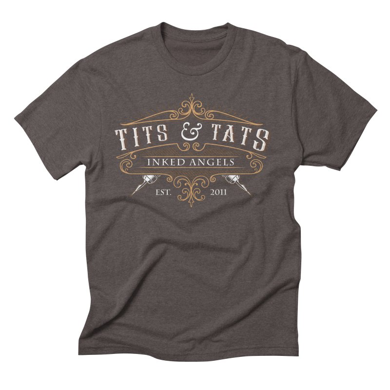 Tits & Tats Since 2011 Men's Triblend T-Shirt by Inked Angels' Store