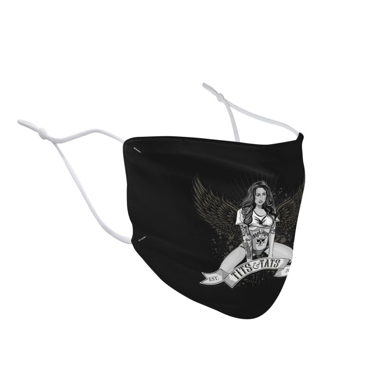 Tits and Tats Angel Accessories Face Mask by Inked Angels' Store