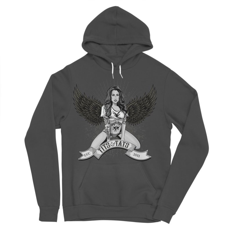Tits and Tats Angel Men's Sponge Fleece Pullover Hoody by Inked Angels' Store