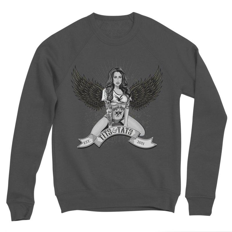 Tits and Tats Angel Women's Sponge Fleece Sweatshirt by Inked Angels' Store