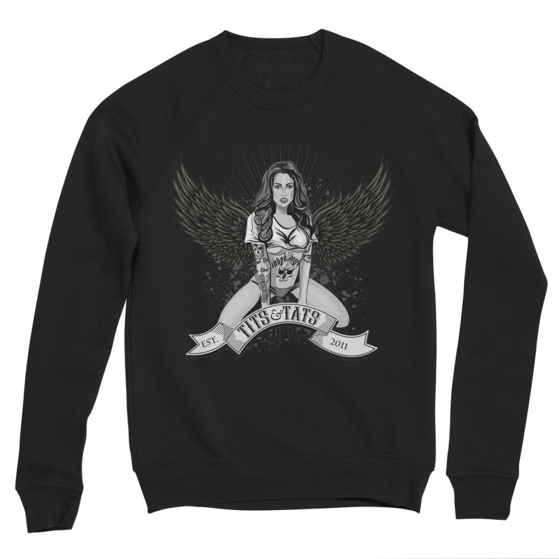 Tits and Tats Angel Men's Sweatshirt by Inked Angels' Store