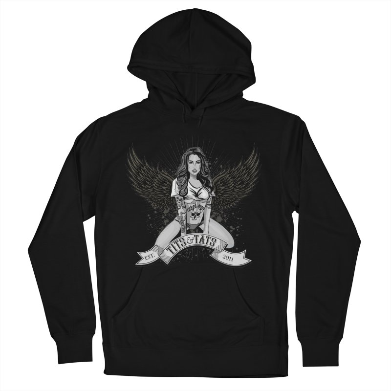 Tits and Tats Angel Women's French Terry Pullover Hoody by Inked Angels' Store