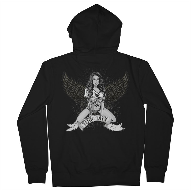 Tits and Tats Angel Men's Zip-Up Hoody by Inked Angels' Store