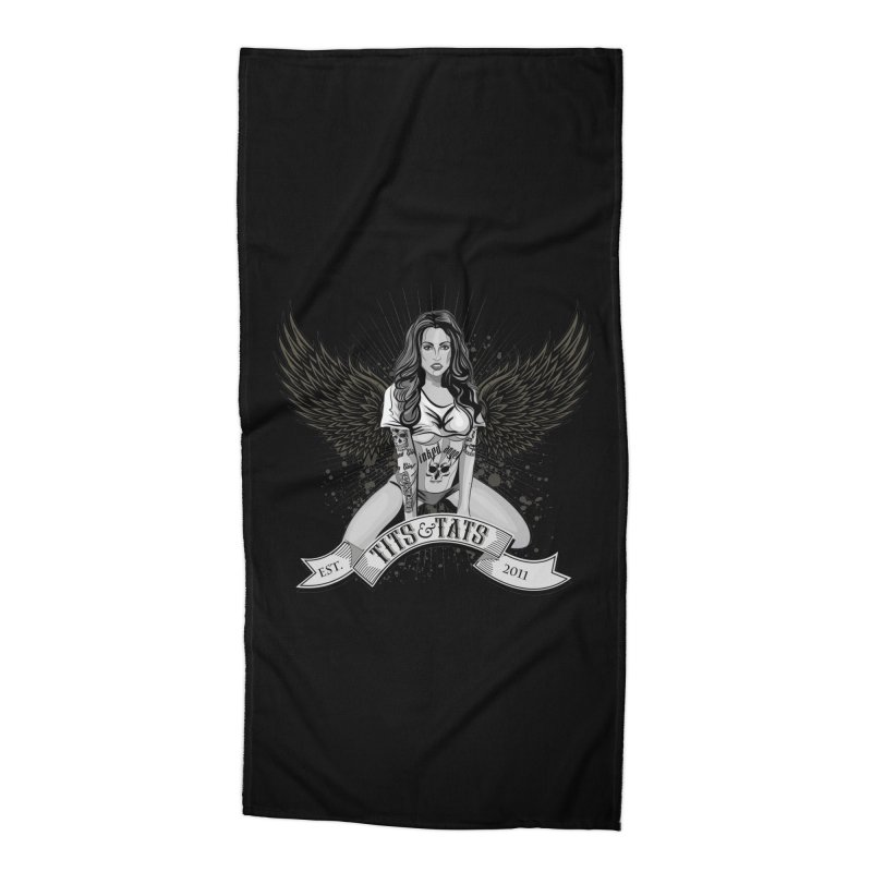 Tits and Tats Angel Accessories Beach Towel by Inked Angels' Store