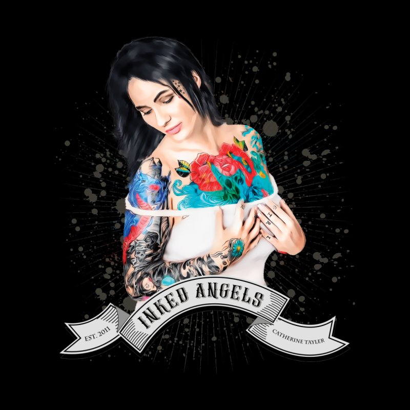 "Inked Angels Signature Series ""Catherine Tayler"" Women's Scoop Neck by Inked Angels' Store"