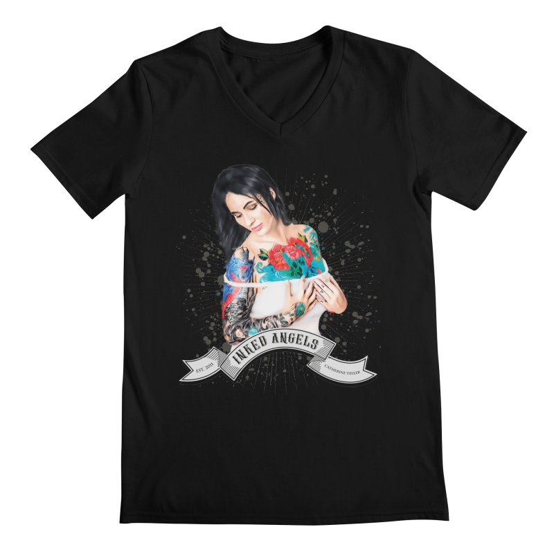 "Inked Angels Signature Series ""Catherine Tayler"" Men's V-Neck by Inked Angels' Store"