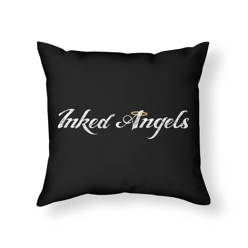 Inked Angels Logo Home Throw Pillow by Inked Angels' Artist Shop