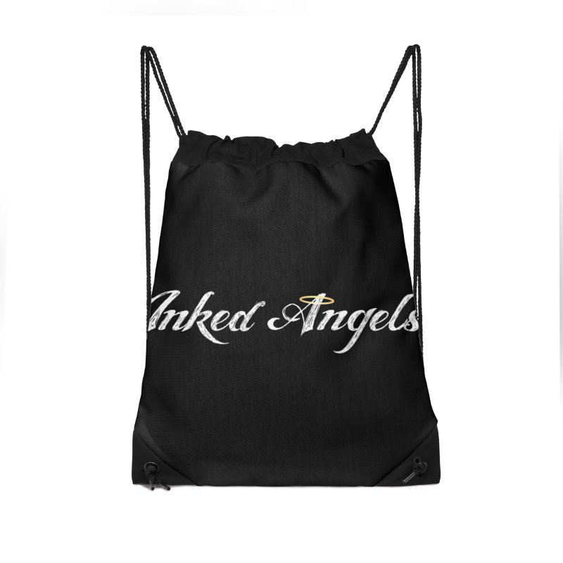 Inked Angels Logo Accessories Drawstring Bag Bag by Inked Angels' Store