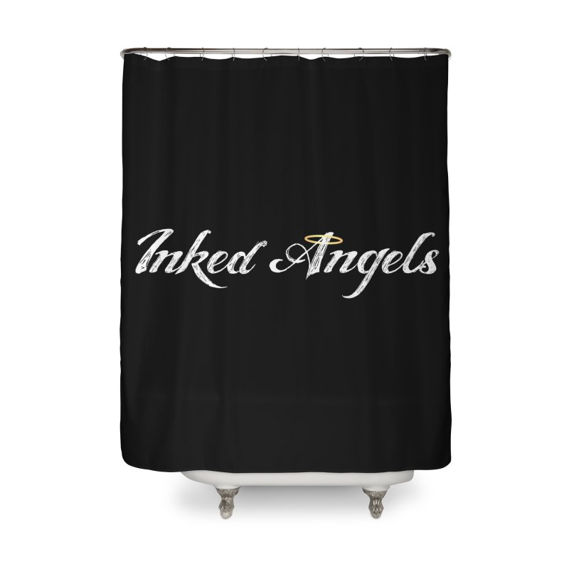 Inked Angels Logo Home Shower Curtain by Inked Angels' Store