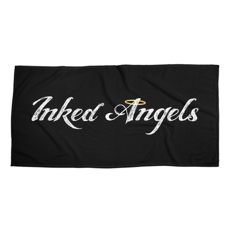 Inked Angels Logo Accessories Beach Towel by Inked Angels' Store