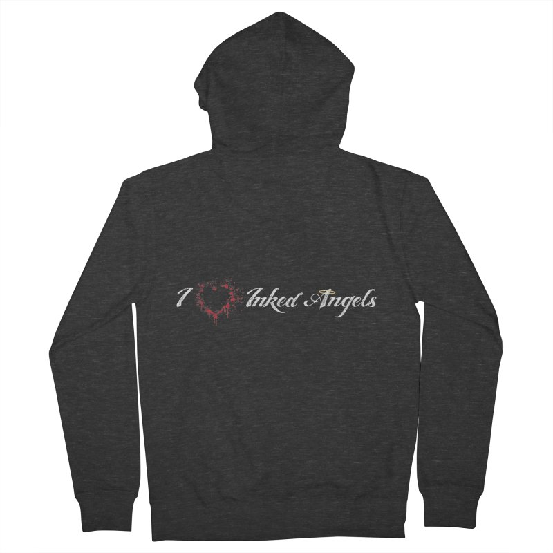 I Love Inked Angels Men's French Terry Zip-Up Hoody by Inked Angels' Store