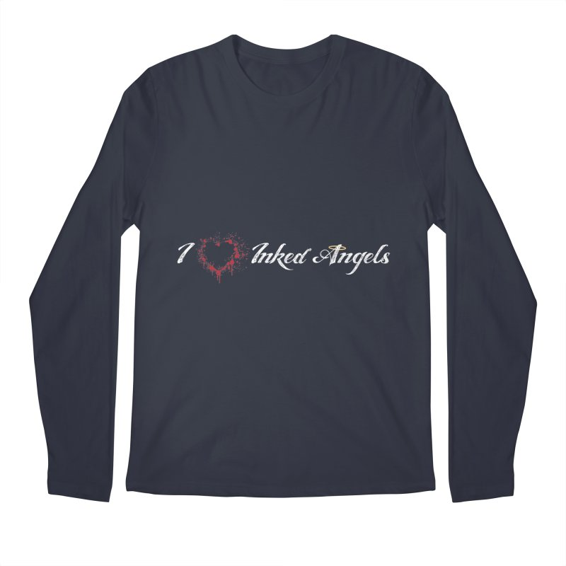 I Love Inked Angels Men's Regular Longsleeve T-Shirt by Inked Angels' Store