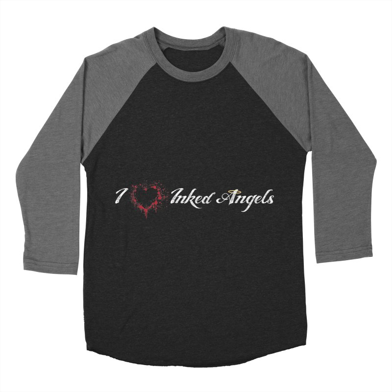 I Love Inked Angels Men's Baseball Triblend Longsleeve T-Shirt by Inked Angels' Store