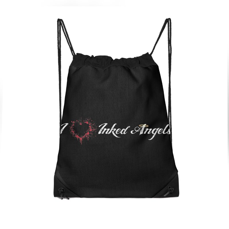 I Love Inked Angels Accessories Drawstring Bag Bag by Inked Angels' Store