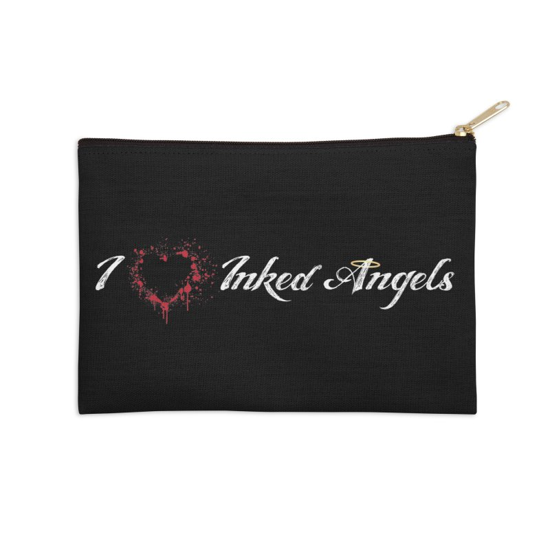 I Love Inked Angels Accessories Zip Pouch by Inked Angels' Store