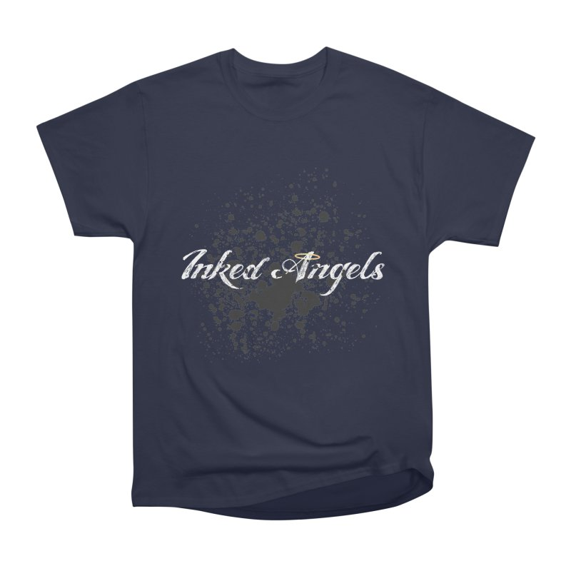 Inked Angels Splatter Men's Heavyweight T-Shirt by Inked Angels' Store