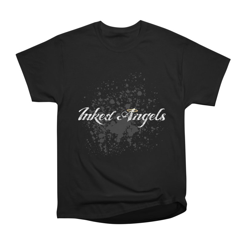 Inked Angels Splatter Women's Heavyweight Unisex T-Shirt by Inked Angels' Store