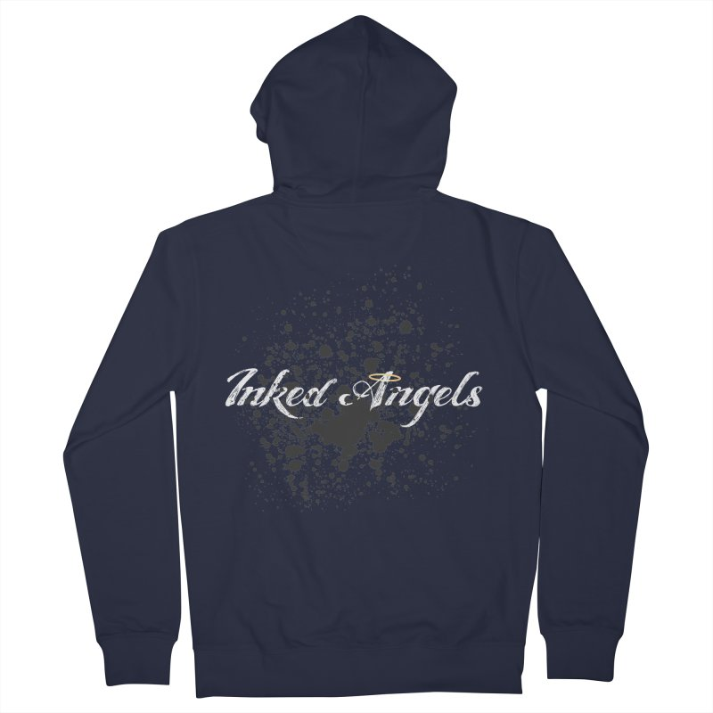Inked Angels Splatter Women's French Terry Zip-Up Hoody by Inked Angels' Store