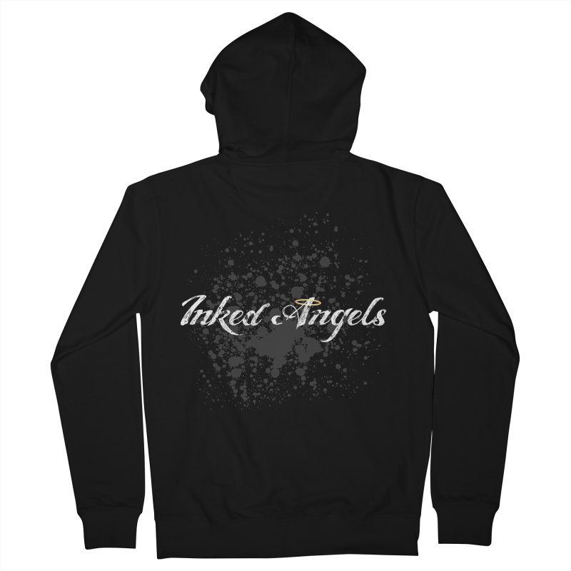 Inked Angels Splatter Men's French Terry Zip-Up Hoody by Inked Angels' Store