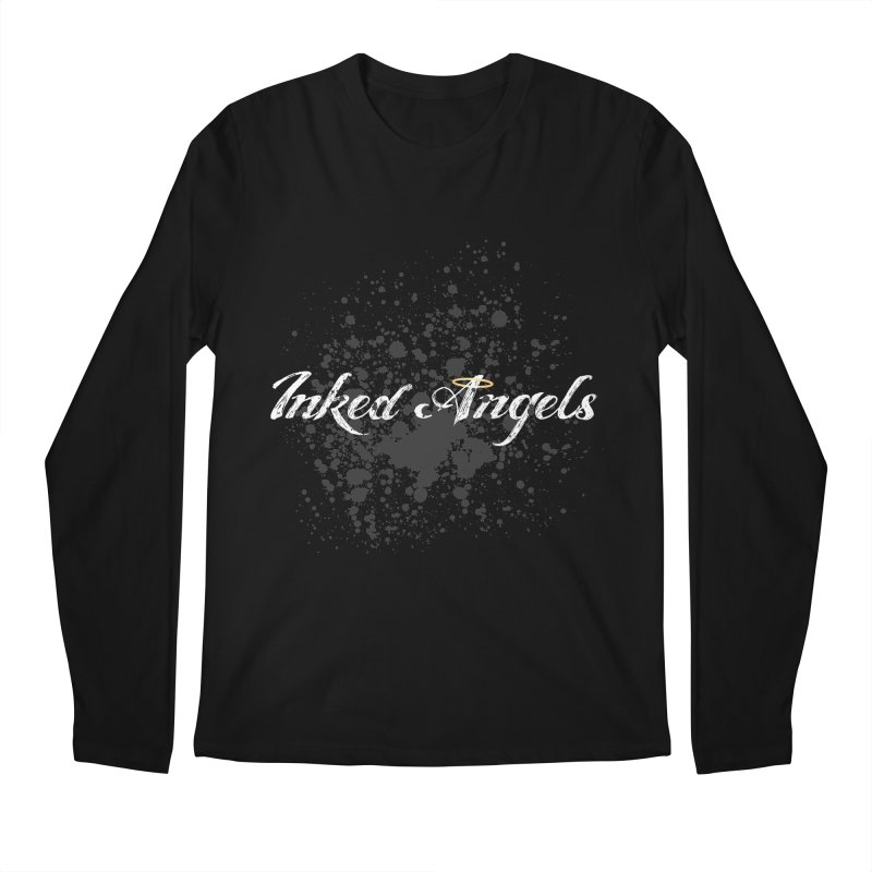 Inked Angels Splatter Men's Regular Longsleeve T-Shirt by Inked Angels' Store