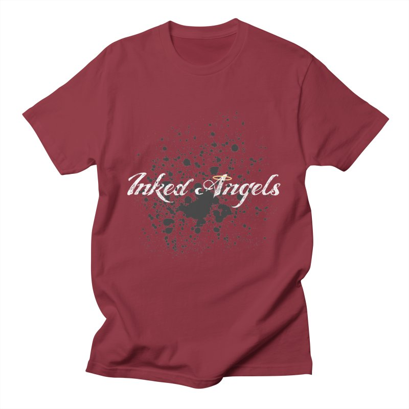Inked Angels Splatter Men's Regular T-Shirt by Inked Angels' Store
