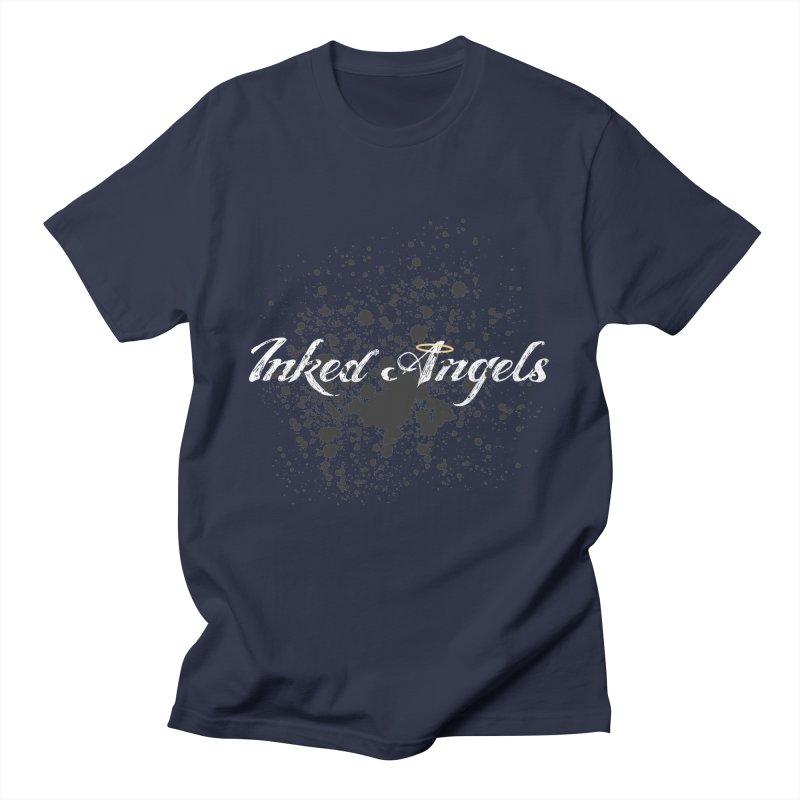 Inked Angels Splatter Men's Regular T-Shirt by Inked Angels' Store