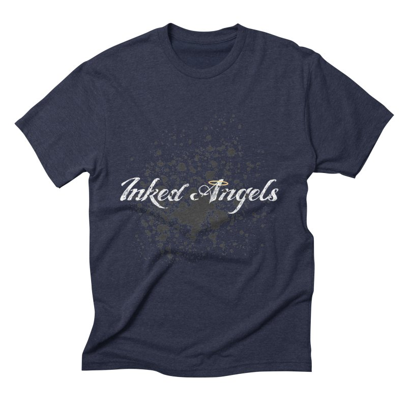 Inked Angels Splatter Men's Triblend T-Shirt by Inked Angels' Store