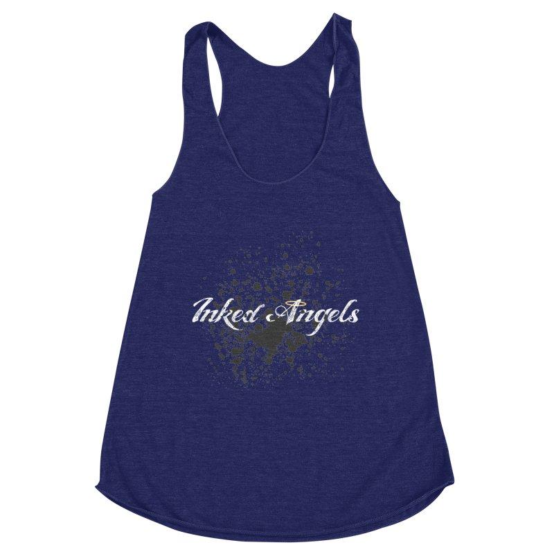 Inked Angels Splatter Women's Racerback Triblend Tank by Inked Angels' Store