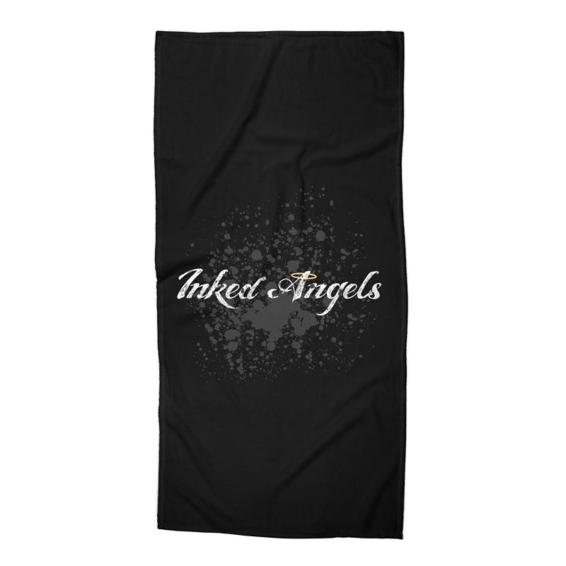 Inked Angels Splatter Accessories Beach Towel by Inked Angels' Store