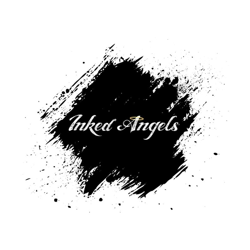 Inked Angels White Men's V-Neck by Inked Angels' Store