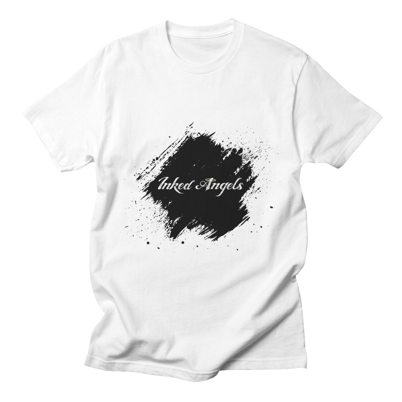 Inked Angels White Men's T-Shirt by Inked Angels' Store