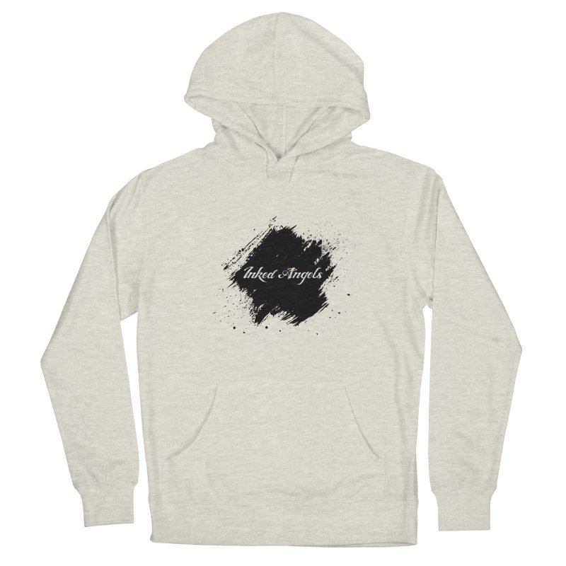Inked Angels White Women's French Terry Pullover Hoody by Inked Angels' Store