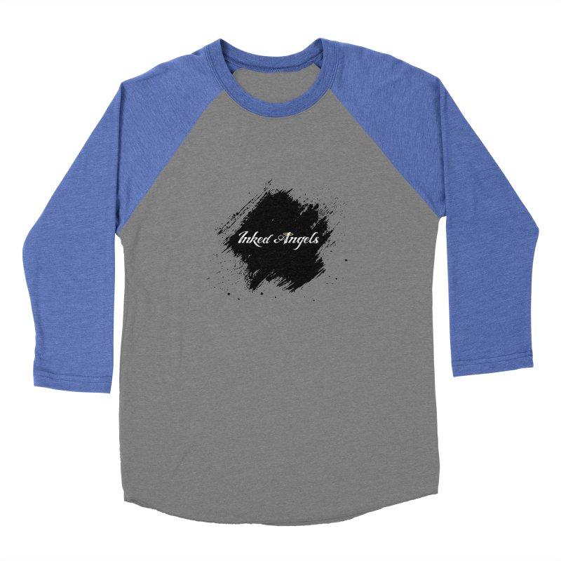 Inked Angels White Men's Baseball Triblend Longsleeve T-Shirt by Inked Angels' Store
