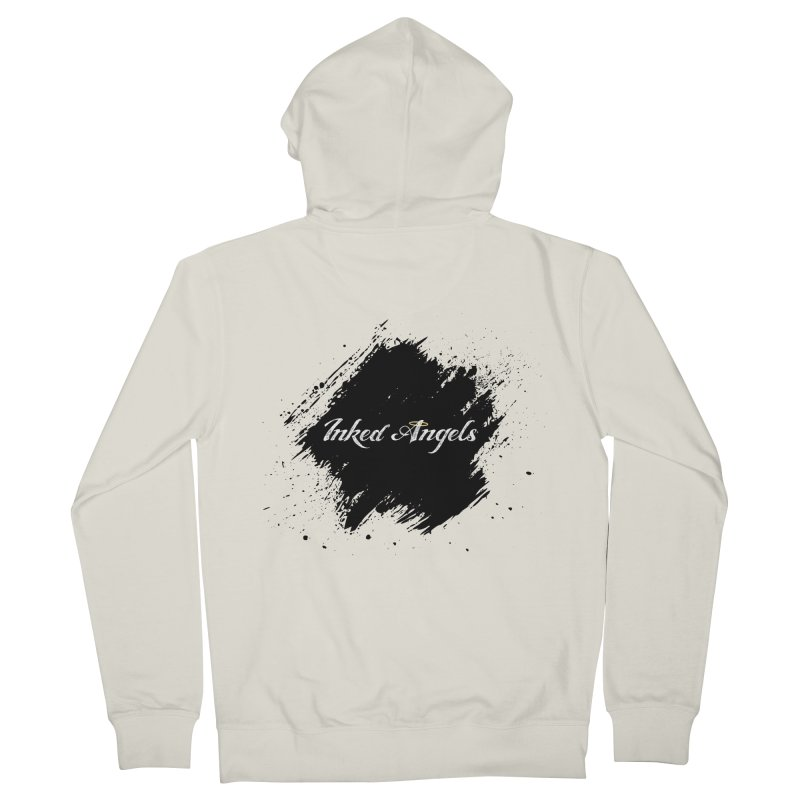 Inked Angels White Men's French Terry Zip-Up Hoody by Inked Angels' Store