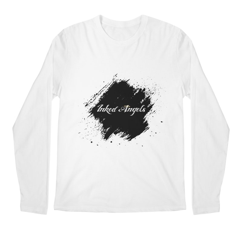 Inked Angels White Men's Regular Longsleeve T-Shirt by Inked Angels' Store