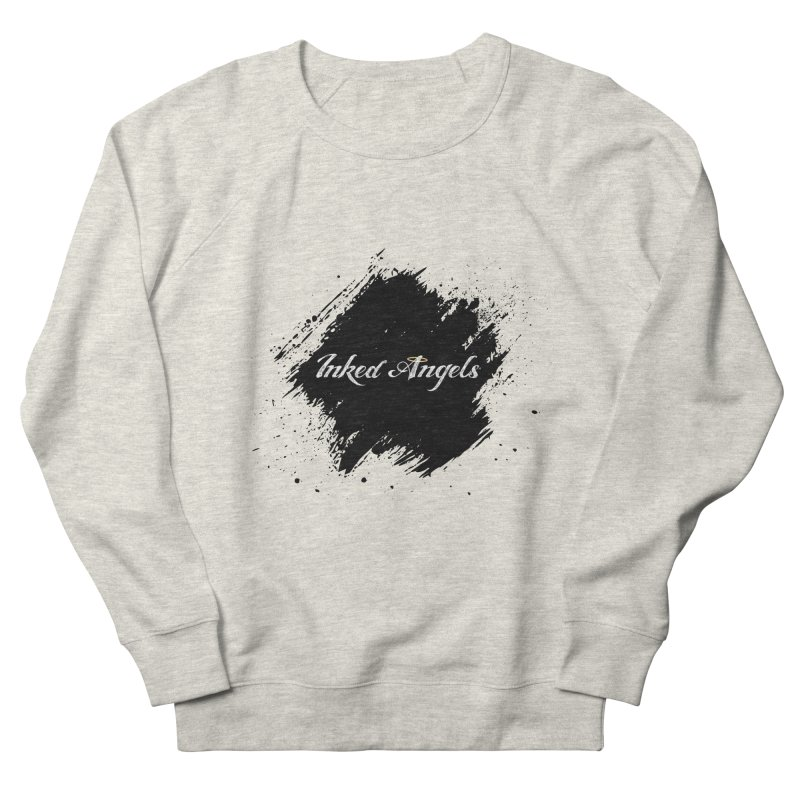Inked Angels White Men's French Terry Sweatshirt by Inked Angels' Store