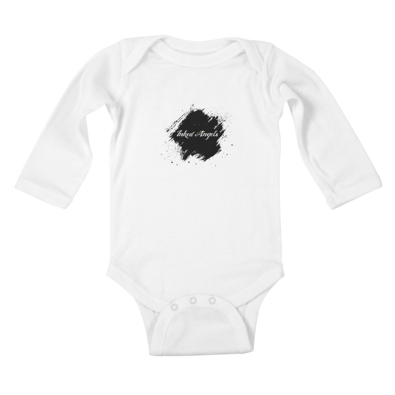 Inked Angels White Kids Baby Longsleeve Bodysuit by Inked Angels' Store