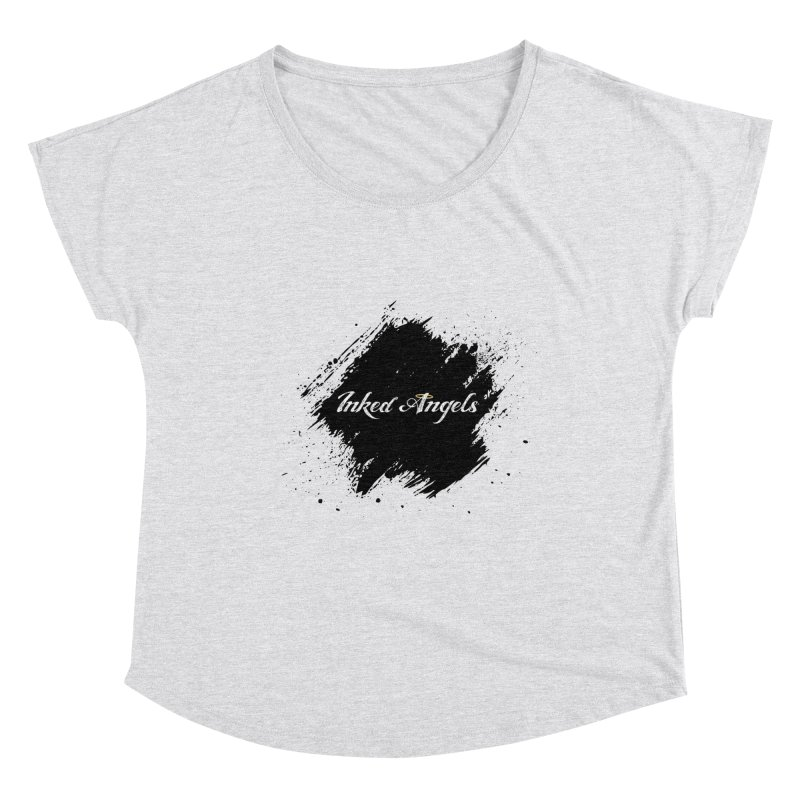 Inked Angels White Women's Dolman Scoop Neck by Inked Angels' Store