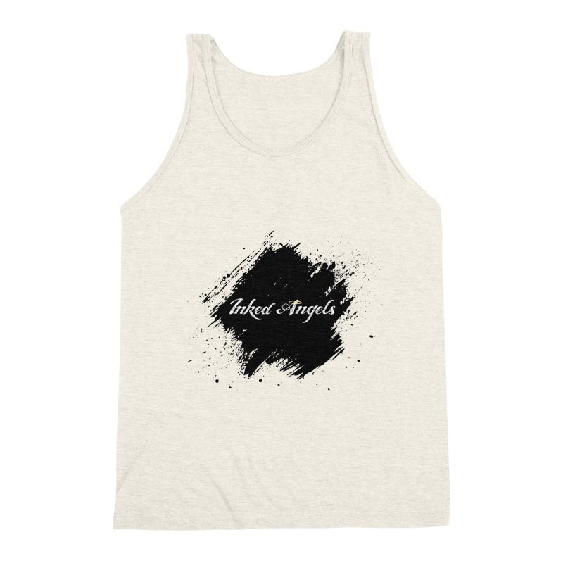 Inked Angels White Men's Triblend Tank by Inked Angels' Store