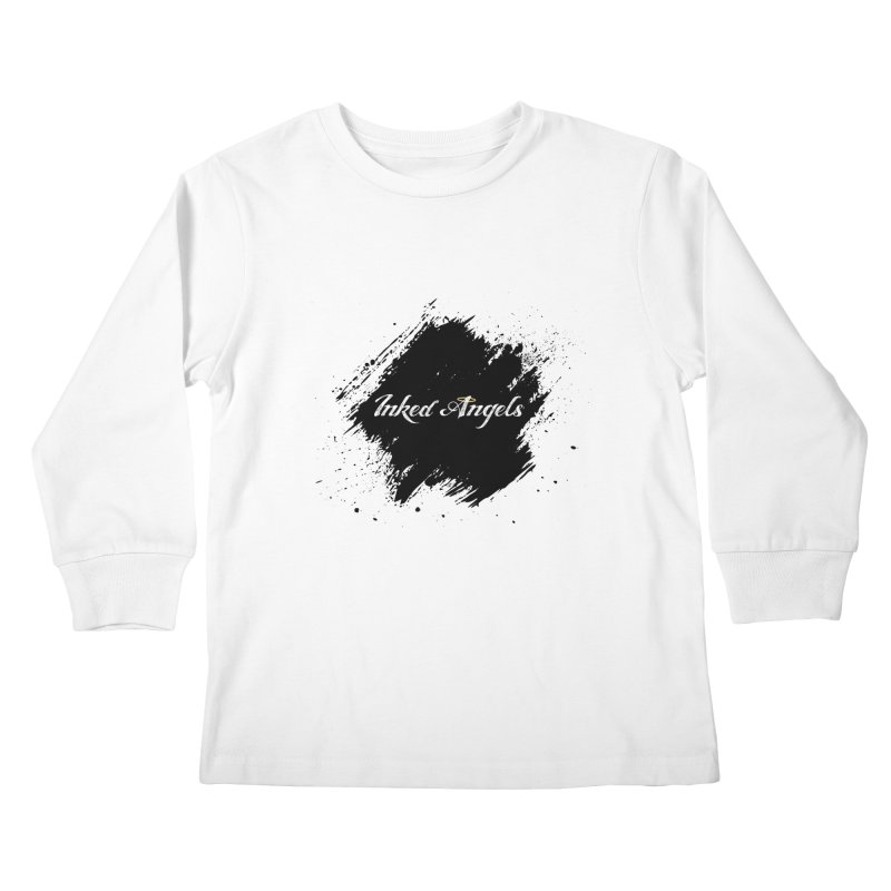 Inked Angels White Kids Longsleeve T-Shirt by Inked Angels' Store