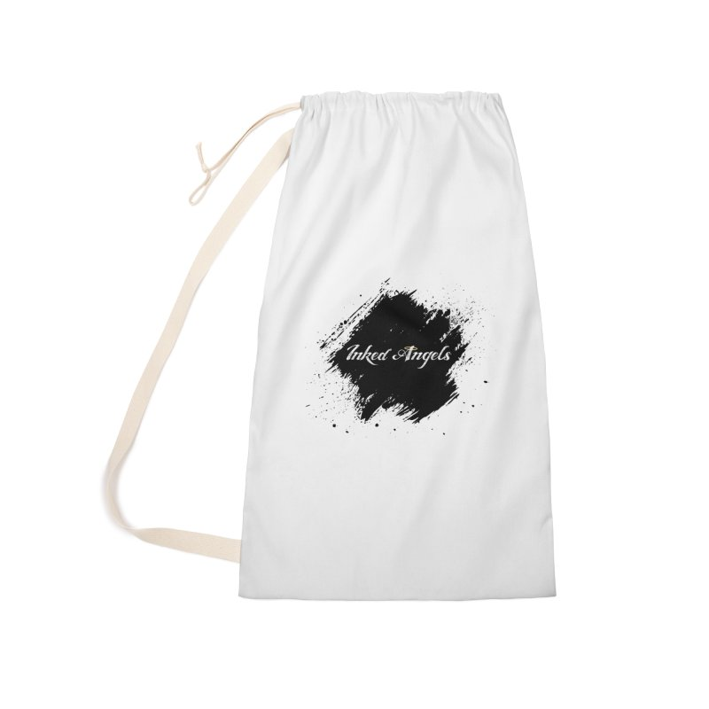 Inked Angels White Accessories Laundry Bag Bag by Inked Angels' Store