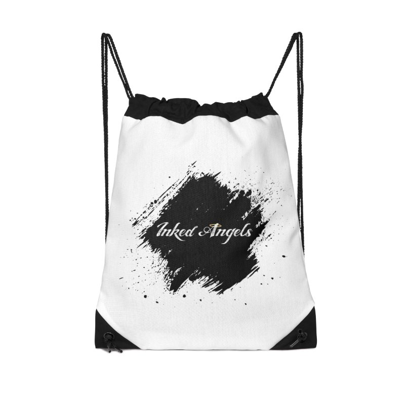 Inked Angels White Accessories Drawstring Bag Bag by Inked Angels' Store