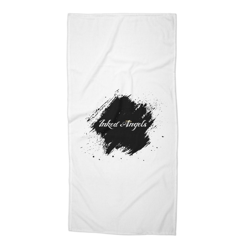 Inked Angels White Accessories Beach Towel by Inked Angels' Store