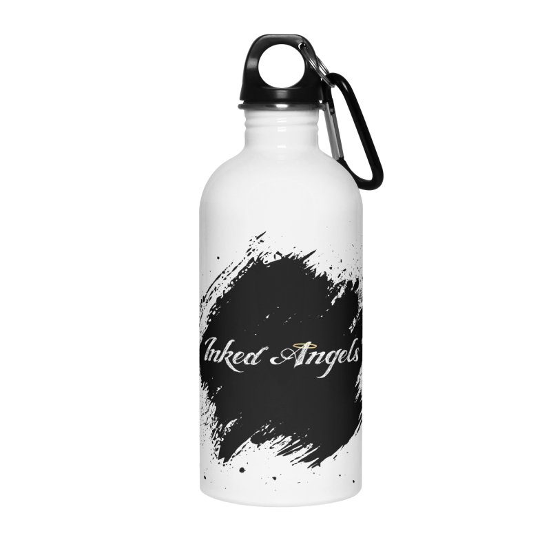 Inked Angels White Accessories Water Bottle by Inked Angels' Store