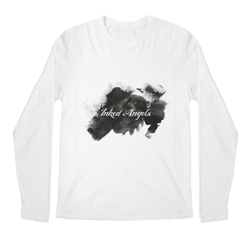Inked Angels Black Paint Men's Regular Longsleeve T-Shirt by Inked Angels' Store