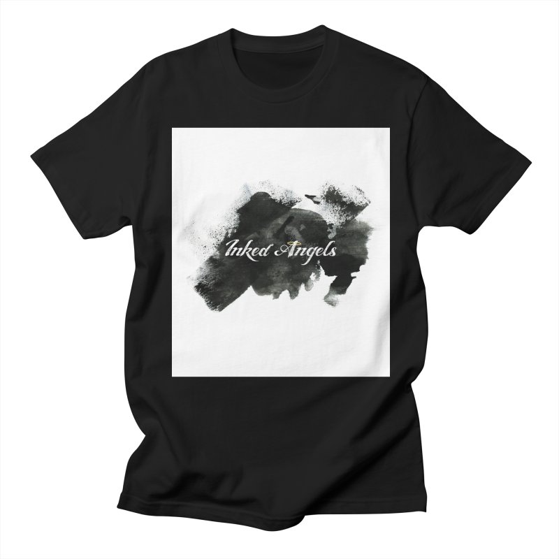 Inked Angels Black Paint Men's Regular T-Shirt by Inked Angels' Store