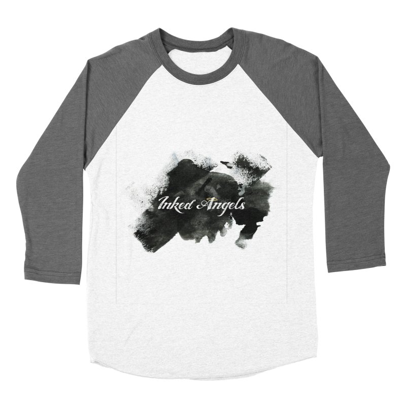 Inked Angels Black Paint Men's Baseball Triblend Longsleeve T-Shirt by Inked Angels' Store