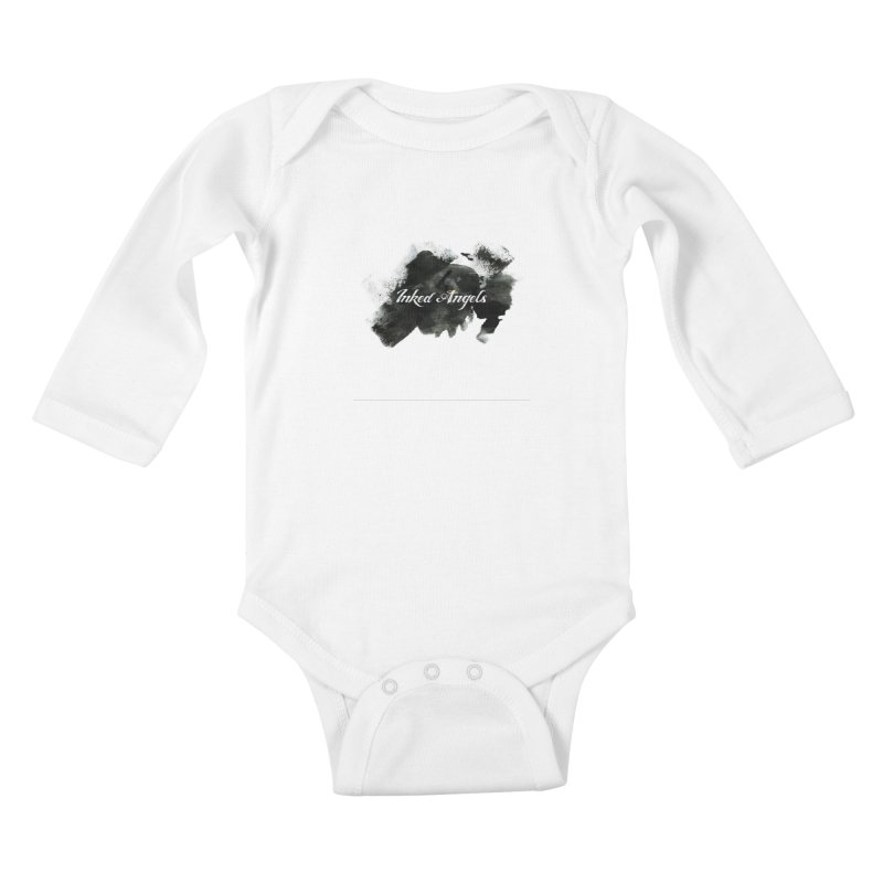 Inked Angels Black Paint Kids Baby Longsleeve Bodysuit by Inked Angels' Store