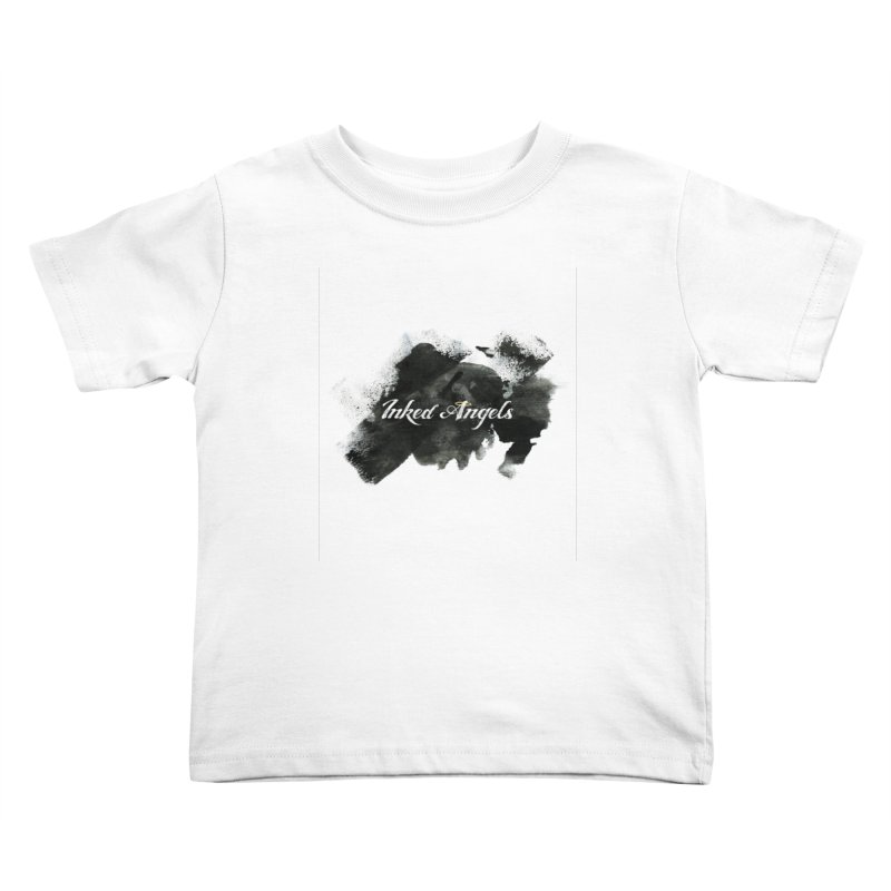 Inked Angels Black Paint Kids Toddler T-Shirt by Inked Angels' Store