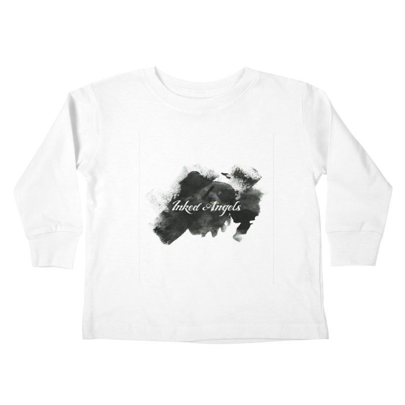 Inked Angels Black Paint Kids Toddler Longsleeve T-Shirt by Inked Angels' Store